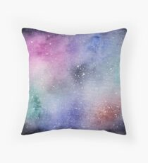 Space Illustration Throw Pillow