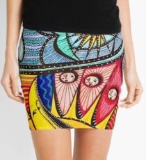 Sun, Moon, Earth, Sky Mini Skirt