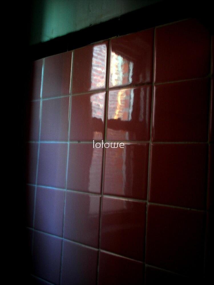 A Gaze Through The Bathroom Tiles by lolowe
