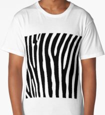 Black and white zebra striped background Long T-Shirt