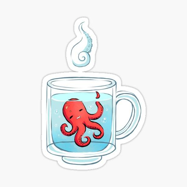 Octopus Tea Sticker