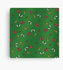 bugs collection - green background Canvas Print