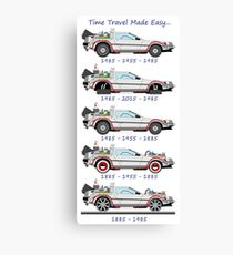 Time Travel Chart Canvas Print