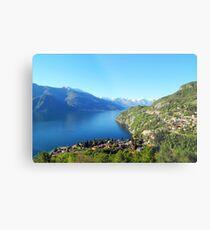Italian Landscape, Lake Como, Varenna, Italy Metal Print