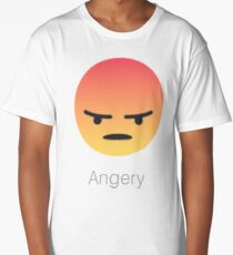 Facebook Angry/Angery React Store. Be Angery. Long T-Shirt
