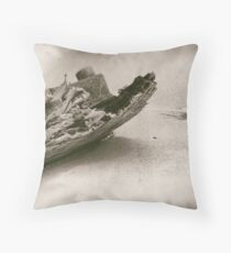Skeleton Coast Namibia Shipwreck Throw Pillow
