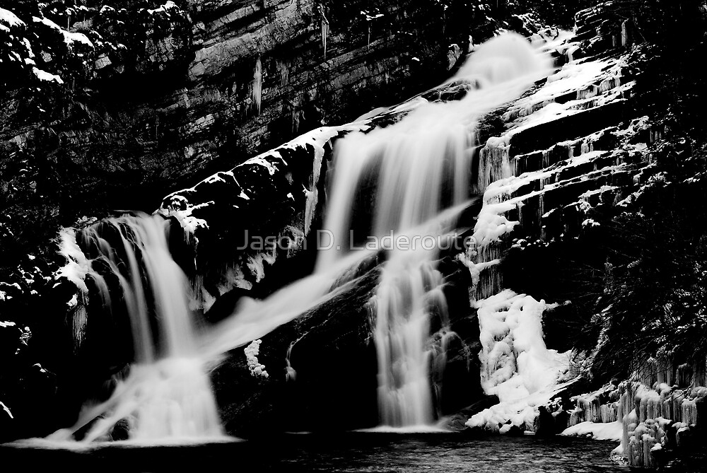 Cameron Falls_BW by Jason D. Laderoute