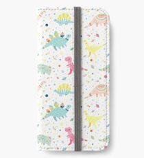 Dinosaur Pattern iPhone Wallet/Case/Skin
