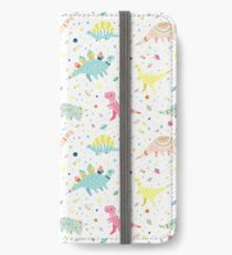 Dinosaur Pattern iPhone Wallet/Case/Skin
