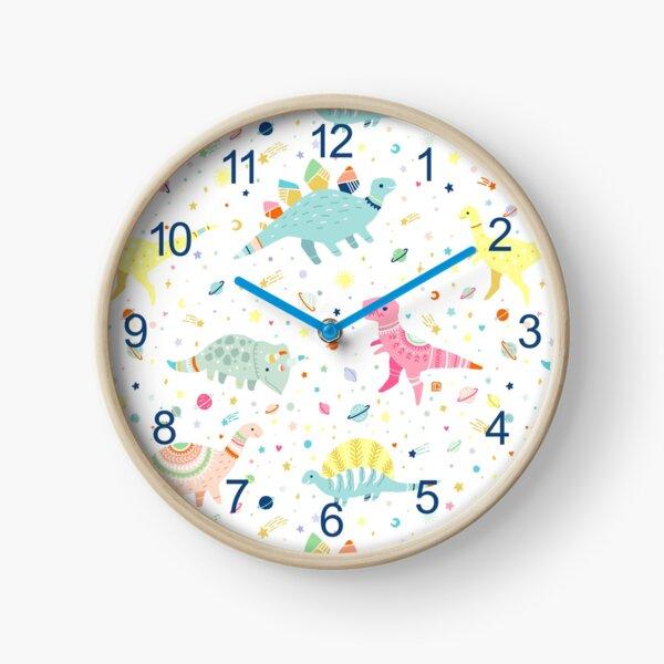 Dinosaur Pattern Clock