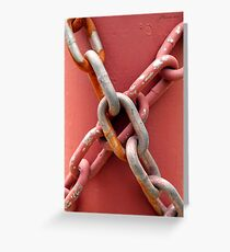 Linked in Pink Greeting Card