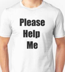 Please Help Me | iDubbbzTV Concerned Apparel  Slim Fit T-Shirt