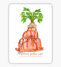 Carrot Jello Cat, tony fernandes Sticker