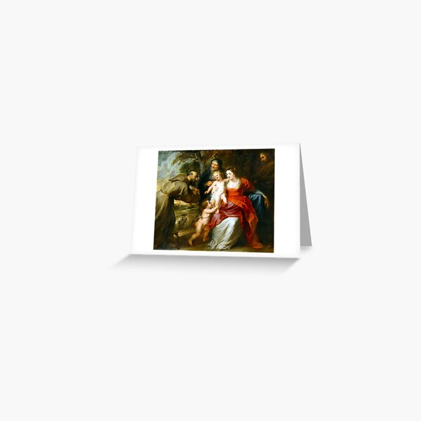 Peter Paul Rubens The Holy Family with Saints Francis and Anne and the Infant Saint John the Baptist Greeting Card