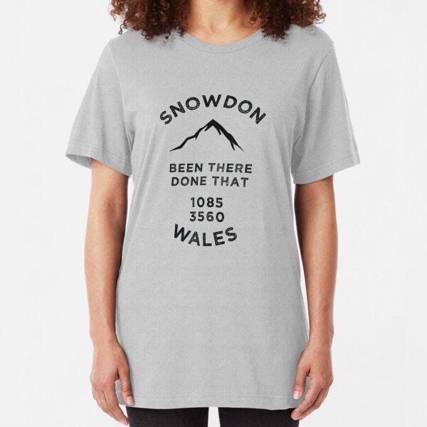 Snowdon-Wales-Walking Climbing Slim Fit T-Shirt