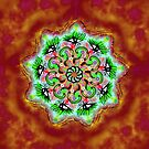 Spider Eye Mandala - Red BG by melasdesign