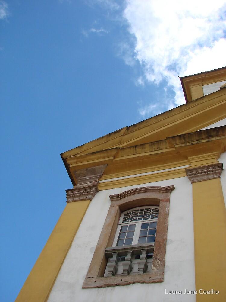 Church window at Ouro Preto, Brazil by Laura Jane Coelho