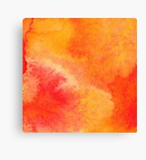 Orange watercolor paint vector background Canvas Print