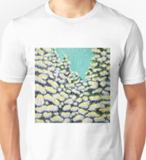 Winter Wonderland Snowing Snow Flurry Pine Trees Forest Storm Powerful Peaceful Unisex T-Shirt