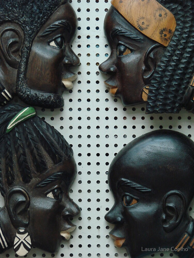 Black Faces carved by Laura Jane Coelho