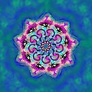 Spider Eye Mandala - Blue BG by melasdesign