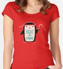 Fight Or Flight Women's Fitted Scoop T-Shirt