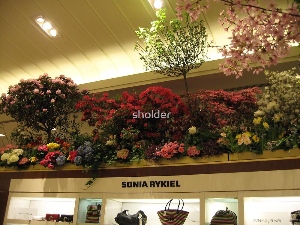 Flowers over Handbags  by sholder