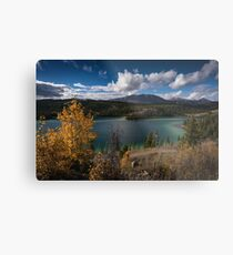 Emerald Lake - Autumn Metal Print