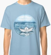 Paperboat - Round - Watercolour Painting Classic T-Shirt