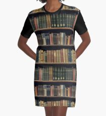Endless Library (pattern) Graphic T-Shirt Dress