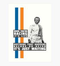 Steve McQueen Le Mans Kunstdruck