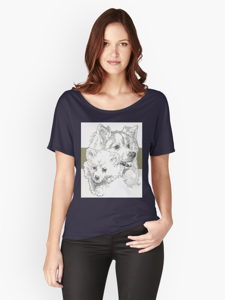 American Eskimo, Father & Son Women's Relaxed Fit T-Shirt Front