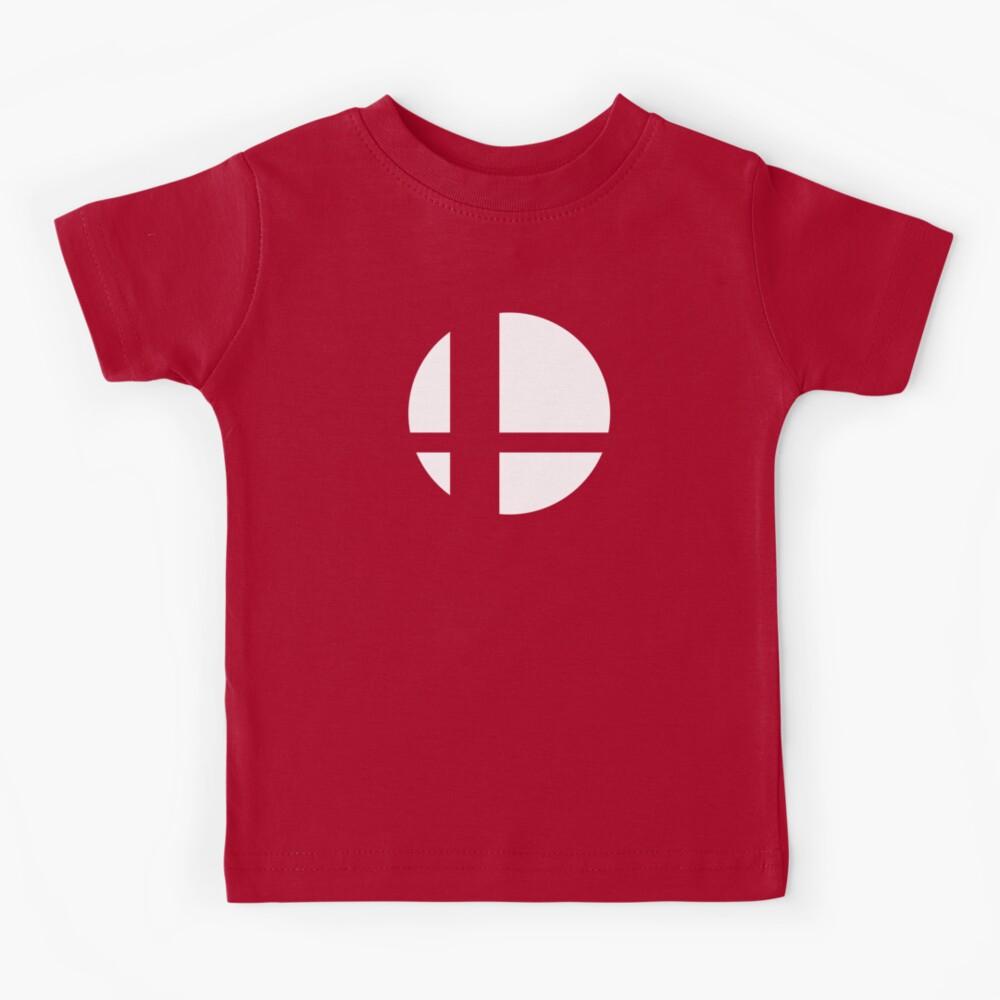 Super Smash Bros. Symbol (white) Kids T-Shirt