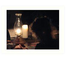 Hannah and Earth Hour Art Print