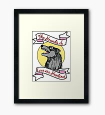 Kate Bush The Hounds of Love are Hunting Wolf Dog Framed Print