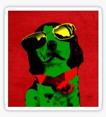 FUNNY DOG - Green Red Sticker