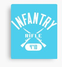 4th ID Military Infantry Design Canvas Print
