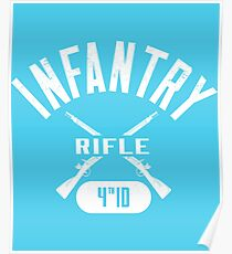 4th ID Military Infantry Design Poster