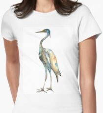 Crane #2 - Bird Ink Painting Womens Fitted T-Shirt
