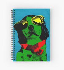 FUNNY DOG! Green Blue Spiral Notebook