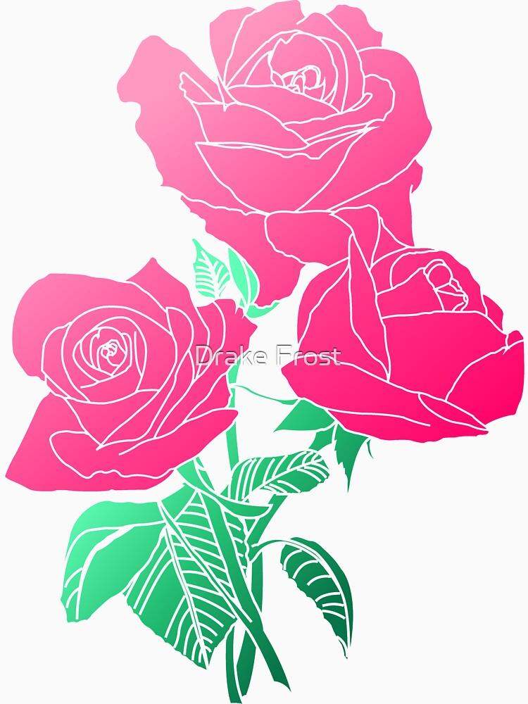 Blumen - rosa Rose von frozendragon