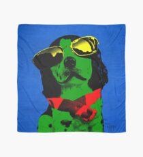 FUNNY DOG Green Blue Scarf