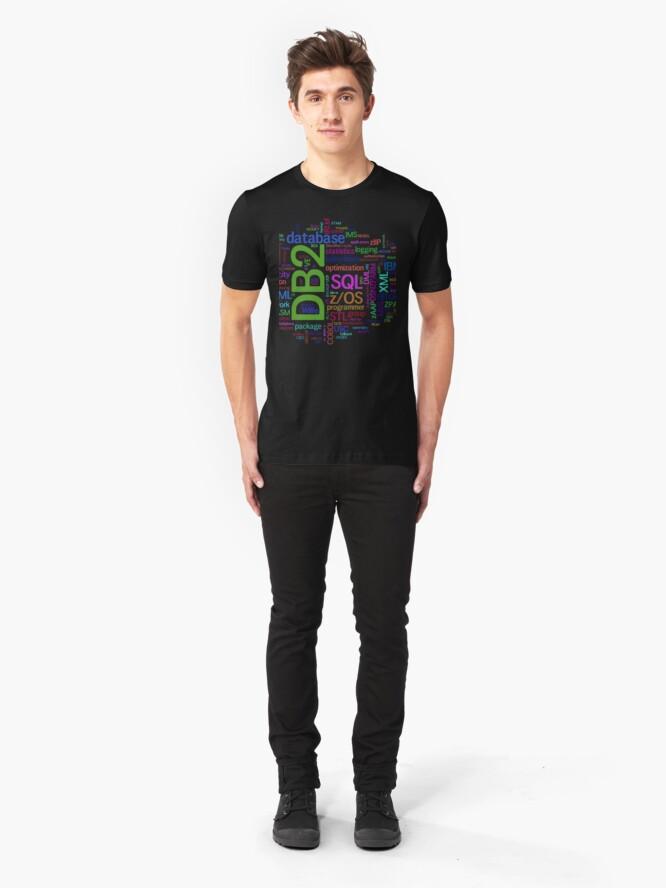 Vista alternativa de Camiseta ajustada database cloud