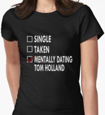 Dating Tom Holland Womens Fitted T-Shirt
