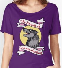 Kate Bush The Hounds of Love are Hunting Wolf Dog Women's Relaxed Fit T-Shirt