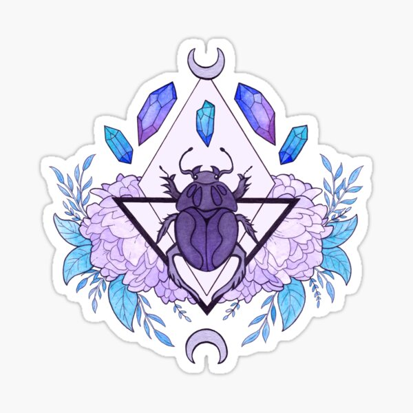 Scarab Queen Sticker