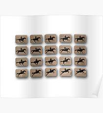 Eadweard Muybridge – 1830-1904 – Locomotion Theory – Horse and Jump – White Poster