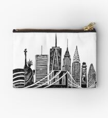 Linocut New York Studio Pouch