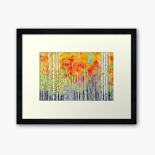 Autumn Aspen Trees Quaking Colorado Colorful Forest Rocky Mountains Montana Idaho Utah Wyoming Washington Oregon Fall Tree Trees Jackie Carpenter Art Framed Art Print