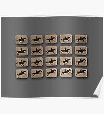Eadweard Muybridge – 1830-1904 – Locomotion Theory – Horse and Jump – Grey Poster